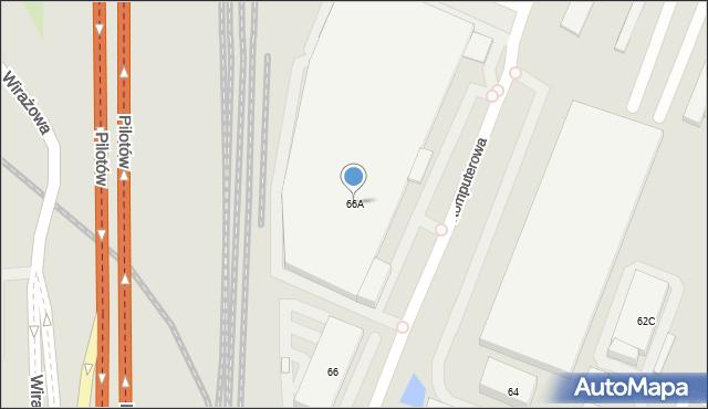 Warszawa, Bokserska, 66A, mapa Warszawy