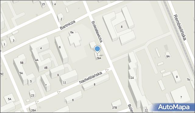 Warszawa, Bolesławicka, 29B, mapa Warszawy