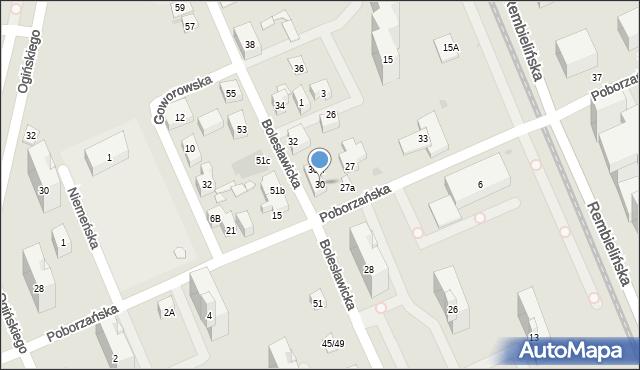 Warszawa, Bolesławicka, 30, mapa Warszawy