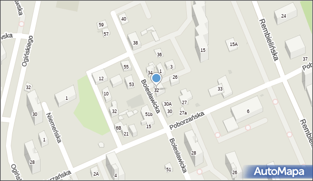 Warszawa, Bolesławicka, 32, mapa Warszawy