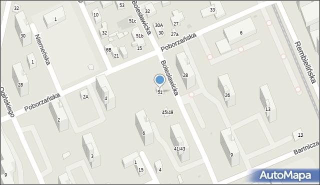 Warszawa, Bolesławicka, 51, mapa Warszawy