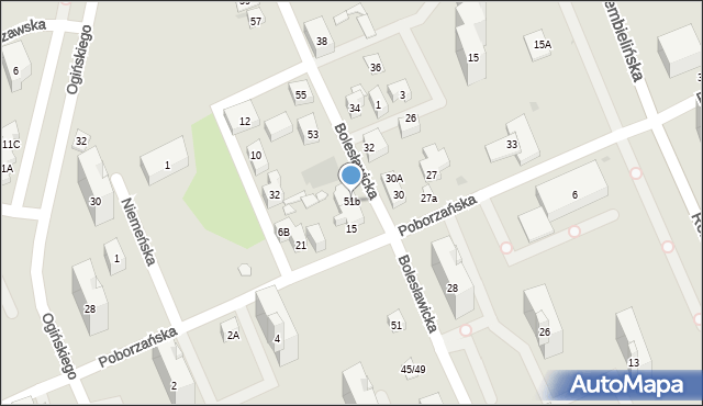 Warszawa, Bolesławicka, 51b, mapa Warszawy