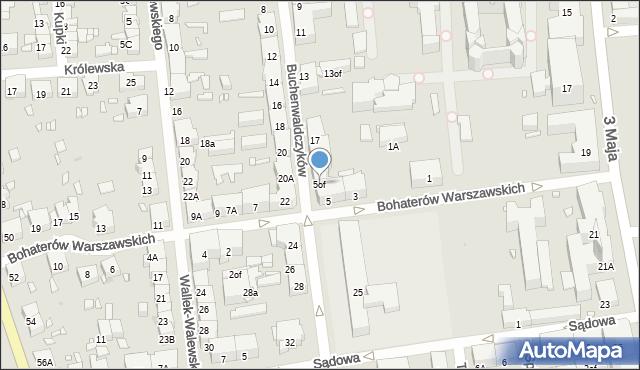 Zabrze, Bohaterów Warszawskich, 5of, mapa Zabrza