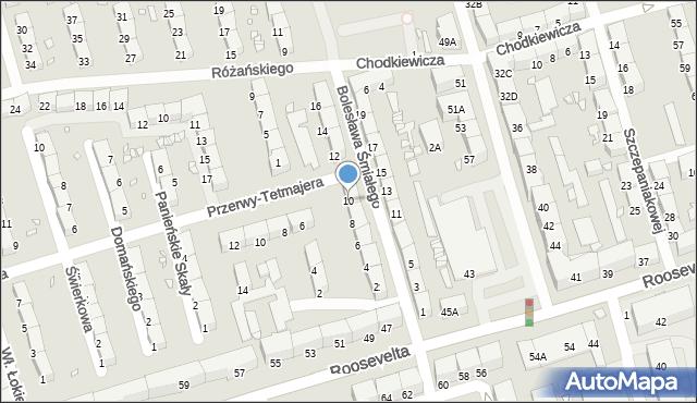 Zabrze, Bolesława Śmiałego, 10, mapa Zabrza