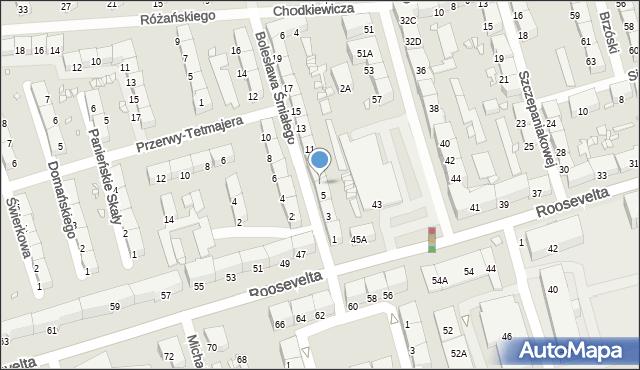 Zabrze, Bolesława Śmiałego, 7, mapa Zabrza