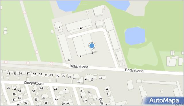 Zabrze, Botaniczna, 2, mapa Zabrza
