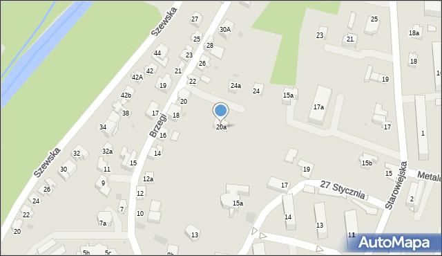 Andrychów, Brzegi, 20a, mapa Andrychów