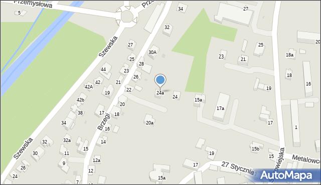 Andrychów, Brzegi, 24a, mapa Andrychów