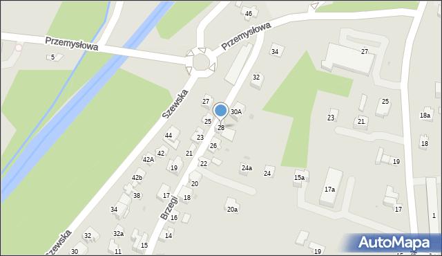 Andrychów, Brzegi, 28, mapa Andrychów