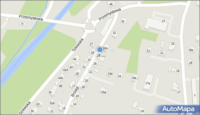 Andrychów, Brzegi, 30, mapa Andrychów