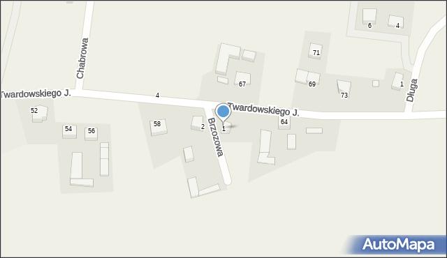 Barłomino, Brzozowa, 1, mapa Barłomino