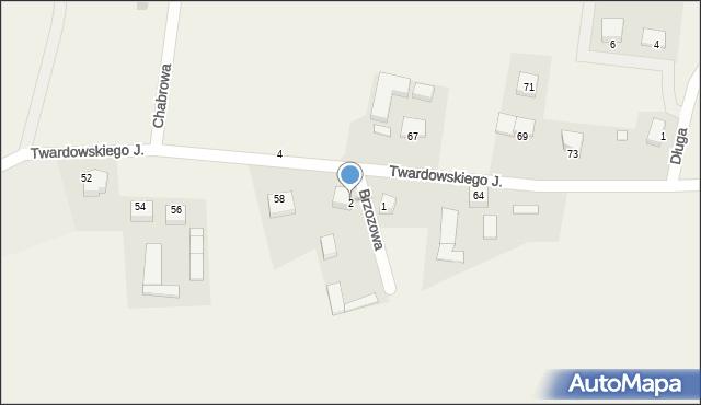 Barłomino, Brzozowa, 2, mapa Barłomino