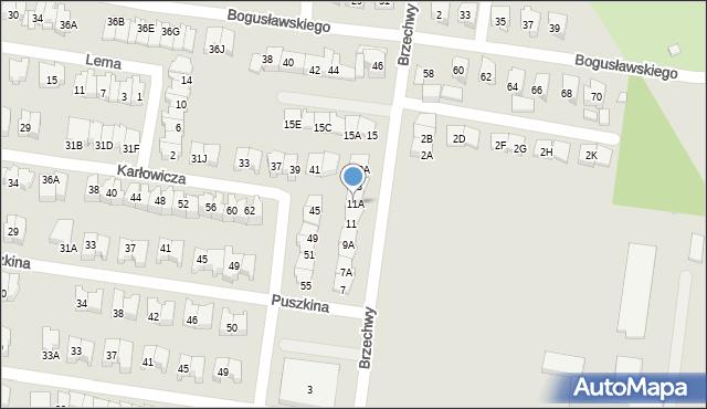 Białystok, Brzechwy Jana, 11A, mapa Białegostoku