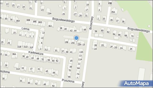 Białystok, Brzechwy Jana, 15B, mapa Białegostoku