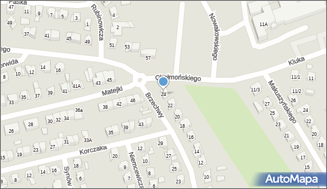 Białystok, Brzechwy Jana, 24, mapa Białegostoku