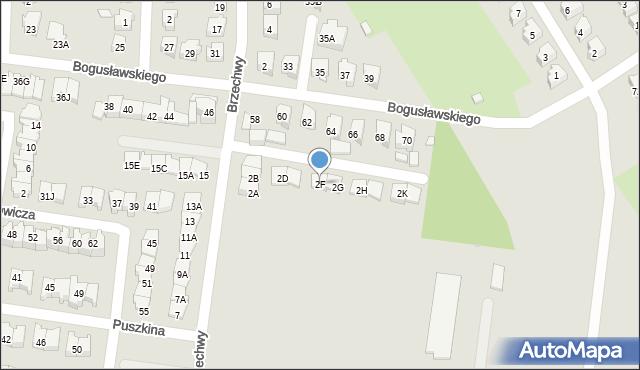 Białystok, Brzechwy Jana, 2F, mapa Białegostoku
