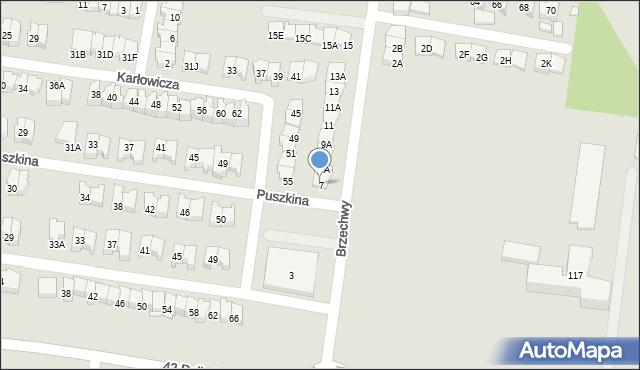 Białystok, Brzechwy Jana, 7, mapa Białegostoku
