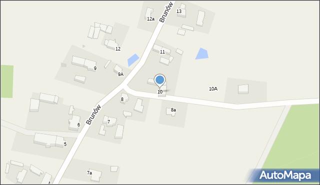 Brunów, Brunów, 10, mapa Brunów