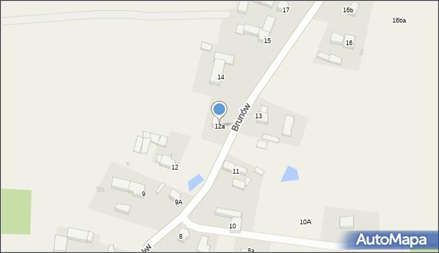 Brunów, Brunów, 12a, mapa Brunów