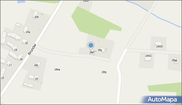 Brunów, Brunów, 16a, mapa Brunów