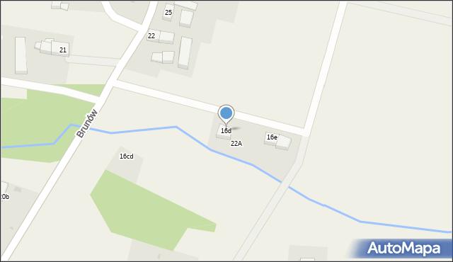 Brunów, Brunów, 16d, mapa Brunów