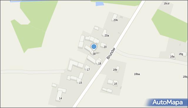 Brunów, Brunów, 19, mapa Brunów