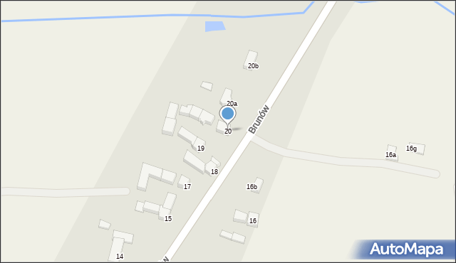 Brunów, Brunów, 20, mapa Brunów