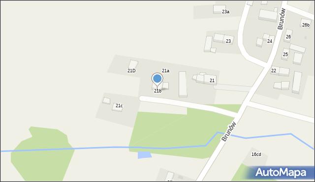Brunów, Brunów, 21b, mapa Brunów