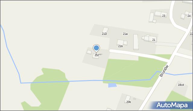 Brunów, Brunów, 21c, mapa Brunów