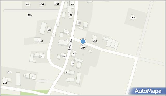 Brunów, Brunów, 26b, mapa Brunów