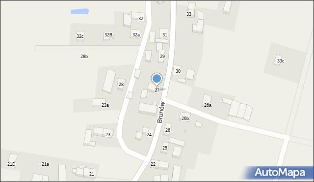 Brunów, Brunów, 27, mapa Brunów