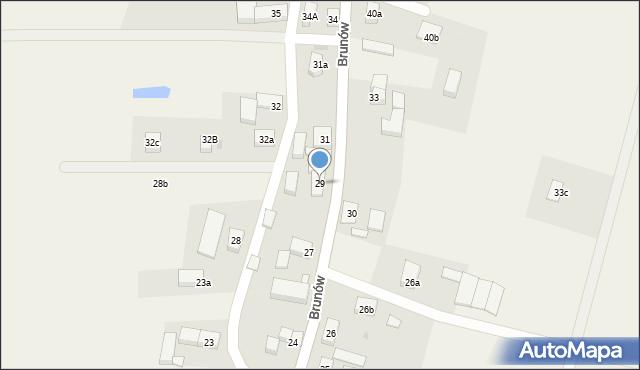 Brunów, Brunów, 29, mapa Brunów