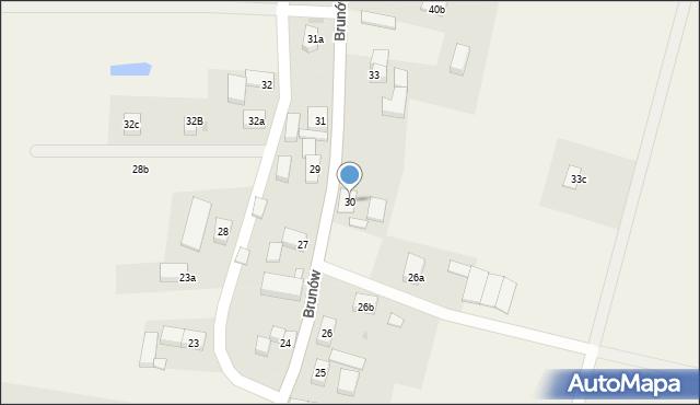 Brunów, Brunów, 30, mapa Brunów