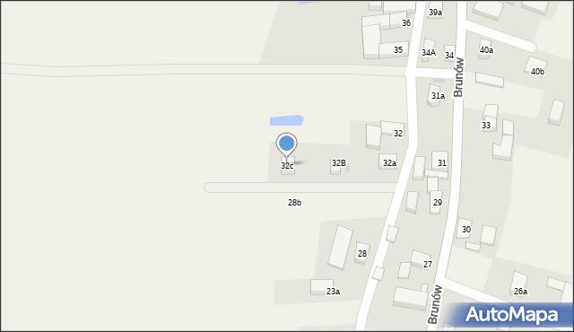 Brunów, Brunów, 32c, mapa Brunów