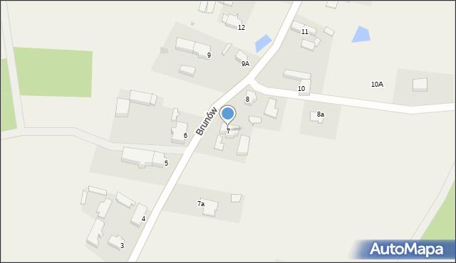Brunów, Brunów, 7, mapa Brunów