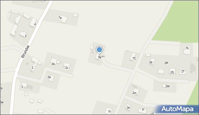 Brunów, Brunów, 7e, mapa Brunów