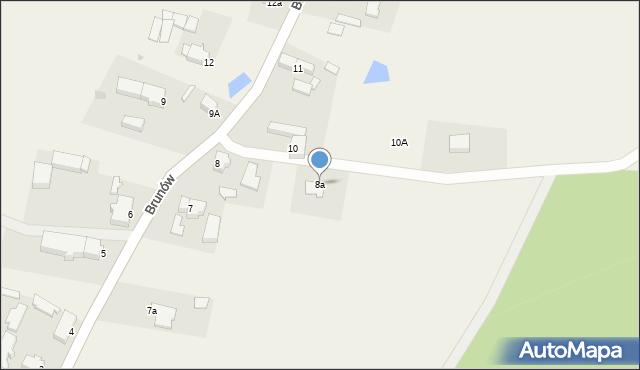 Brunów, Brunów, 8a, mapa Brunów
