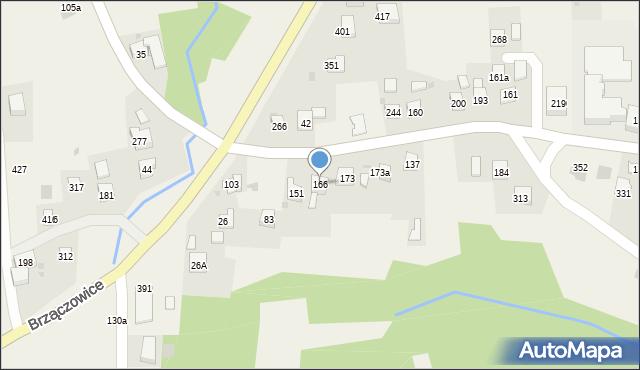 Brzączowice, Brzączowice, 166, mapa Brzączowice