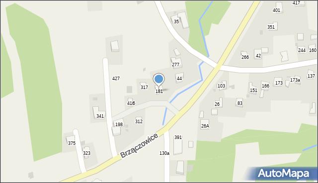 Brzączowice, Brzączowice, 181, mapa Brzączowice