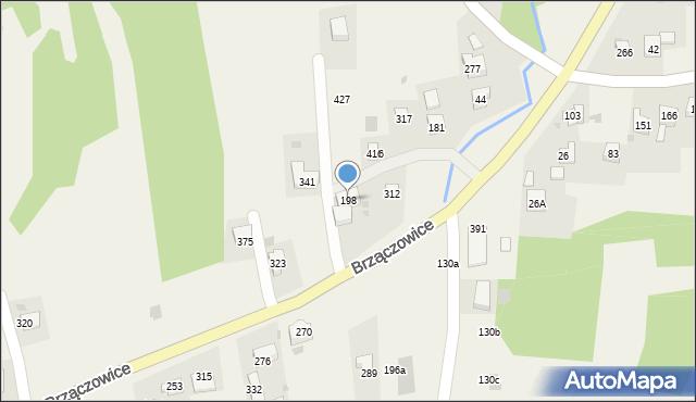 Brzączowice, Brzączowice, 198, mapa Brzączowice