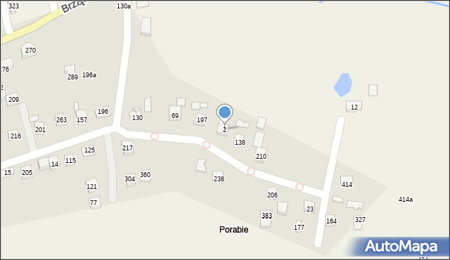Brzączowice, Brzączowice, 2, mapa Brzączowice