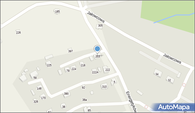 Brzączowice, Brzączowice, 203, mapa Brzączowice