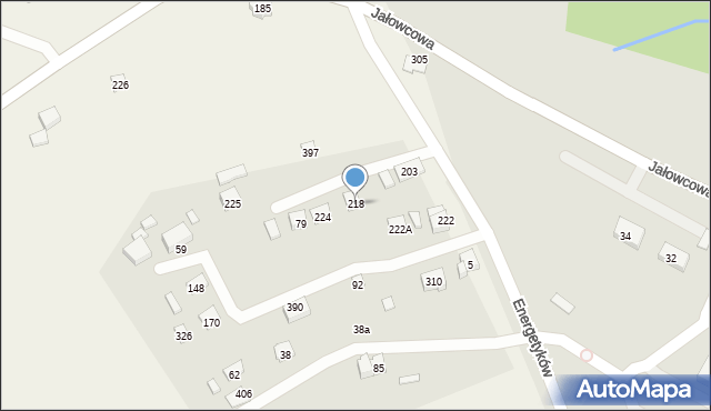 Brzączowice, Brzączowice, 218, mapa Brzączowice