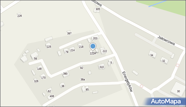 Brzączowice, Brzączowice, 222A, mapa Brzączowice