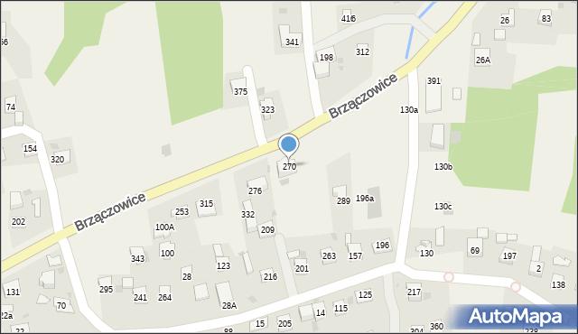 Brzączowice, Brzączowice, 270, mapa Brzączowice