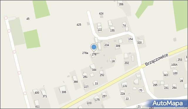 Brzączowice, Brzączowice, 278, mapa Brzączowice