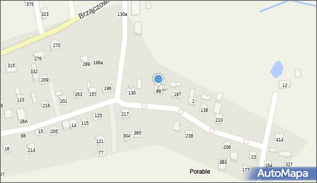 Brzączowice, Brzączowice, 69, mapa Brzączowice