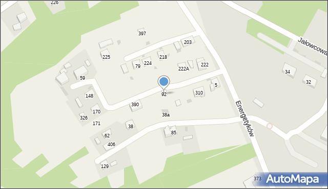 Brzączowice, Brzączowice, 92, mapa Brzączowice