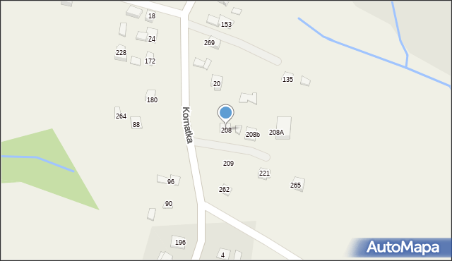 Brzezowa, Brzezowa, 208, mapa Brzezowa