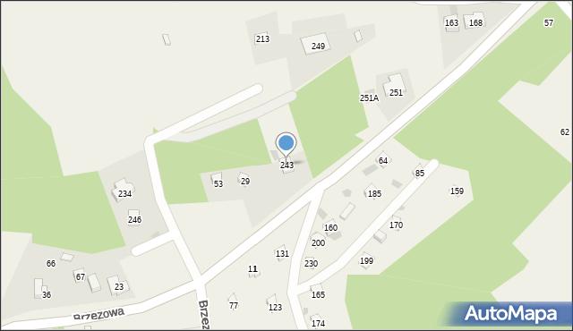 Brzezowa, Brzezowa, 243, mapa Brzezowa